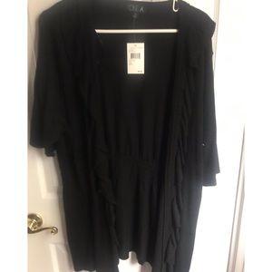 NWT One A Ruffled Short Sleeve Sweater (Plus)